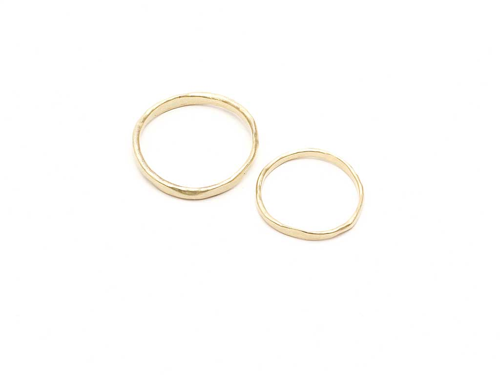 Eco gold wedding rings