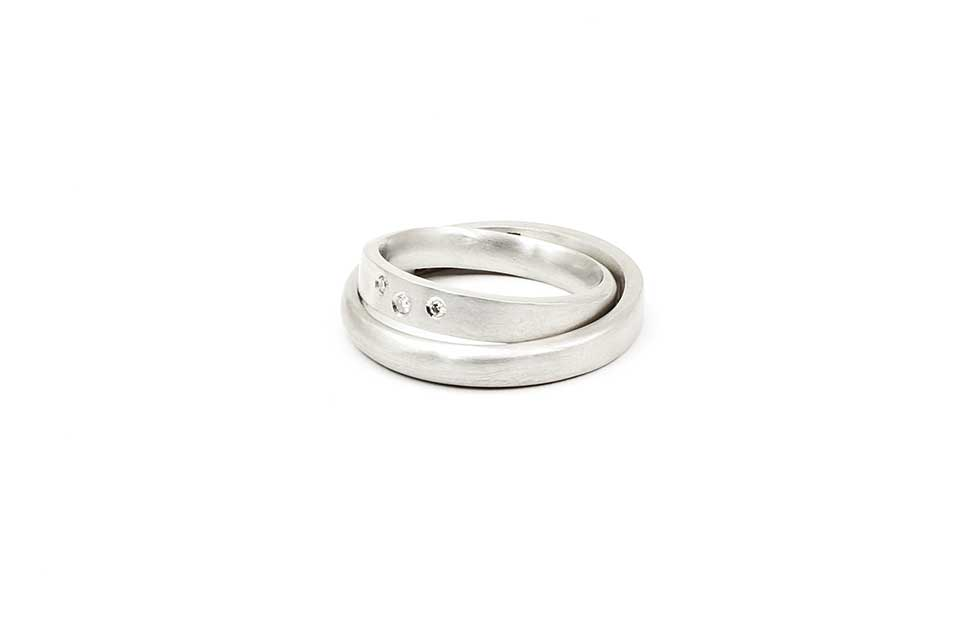 White Gold Diamond Wedding Rings 'My Other Half'