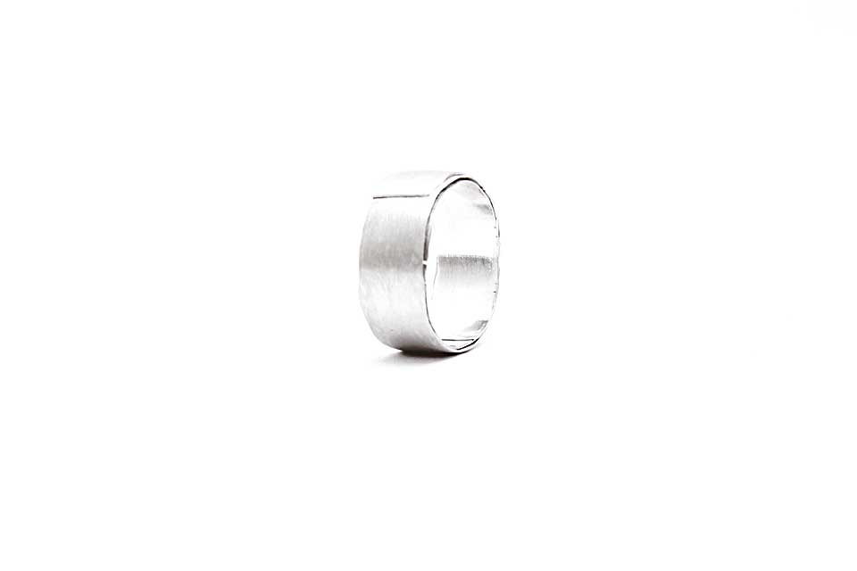 Wide Wrapped Silver Ring