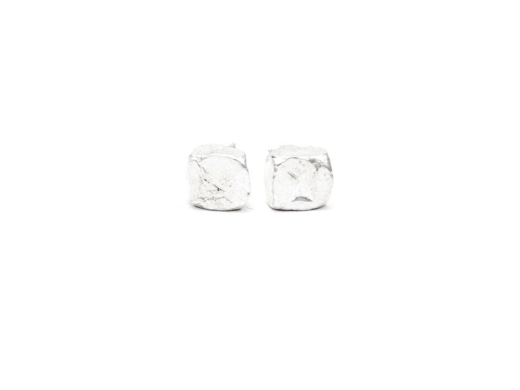 Silver Prism Earrings (Large), Collection Orígenes
