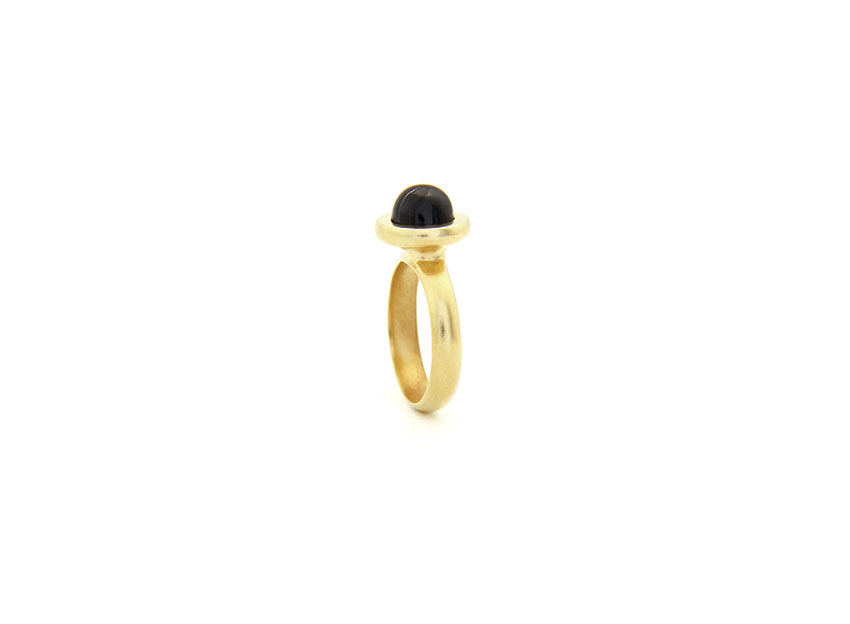 Bespoke Black Diopside Ring Black Star