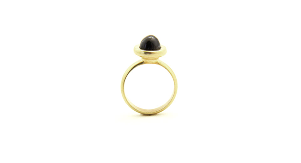Black diopside ring Black Star