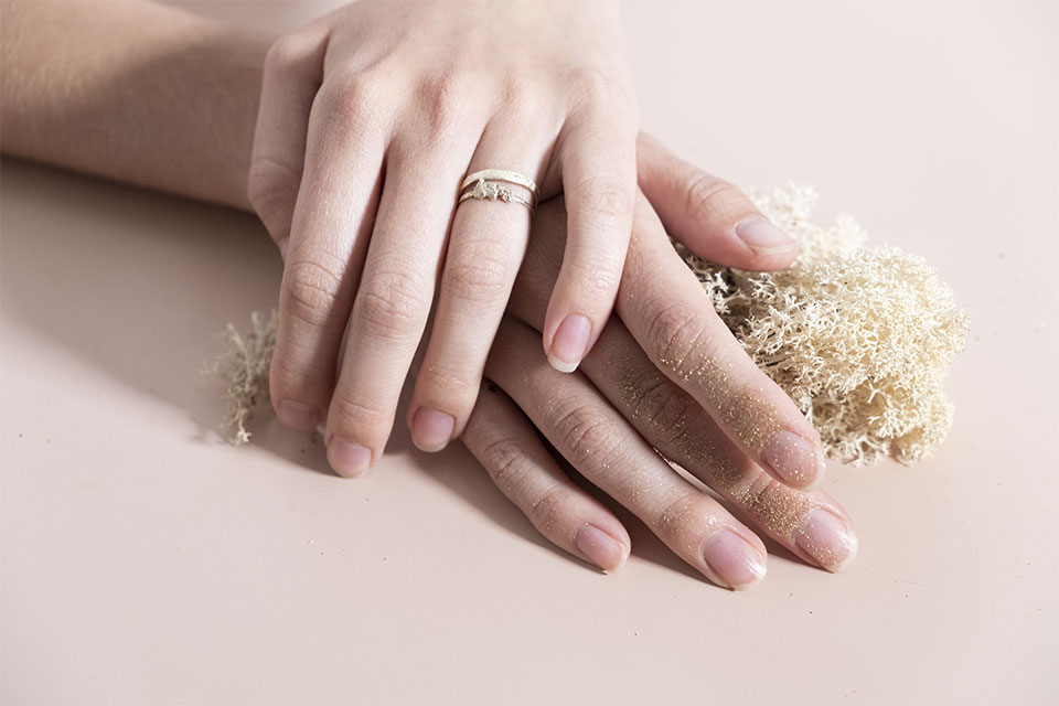 Collection Moss Gold Dust Rings