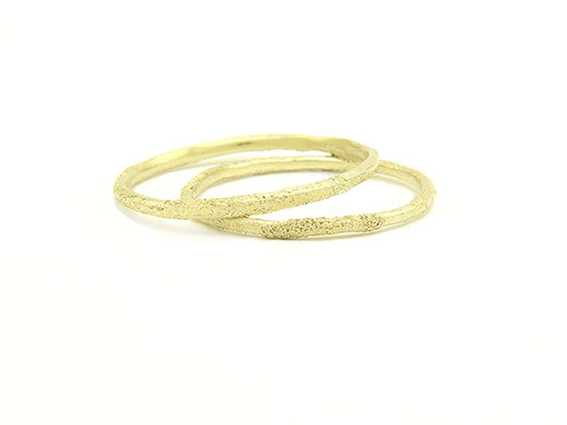 Slim Gold Dust Ring Collection Moss