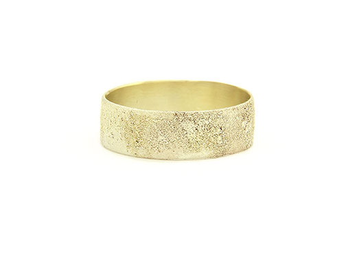Wide Gold Dust Ring  Collection Moss